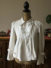 Trench-coat petite manteau Complices Taille 36 écru en coton IMPECCABLE