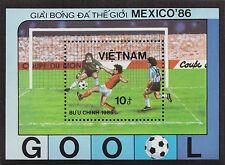 VIETNAM Bloc N°27** Bf Football Mexico 1986, Vietnam World Cup Soccer sheet MNH