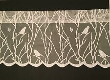 Songbirds Lace Ivory Kitchen Curtain Valance