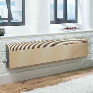 Jaga Knockonwood Horizontal Wooden cased radiator Maple veneer H550, 1400MM 0636