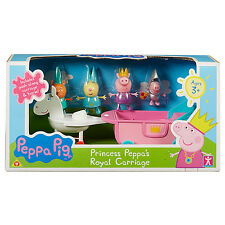 Peppa Pig Princess Peppa's Royal Carriage Set George Rebecca Rabbit Candy Cat