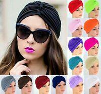 F. Turbante Cabeza Mujeres Sombrero de India Turbante Encaje Sombrero elástico.