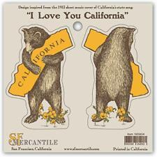 California Bear Hug Vinyl Sticker Set