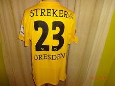 """DINAMO Dresda NIKE Matchworn Trikot 2013/14 """"Veolia"""" + N. 23 Streker Taglia L"""