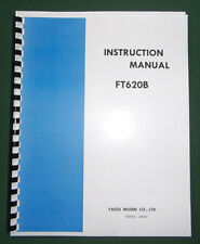 """Yaesu Ft-620B Instruction Manual: with 11"""" X 32"""" Schematic, Protective covers!"""