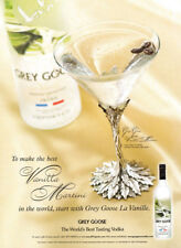 Grey Goose vodka print ad 2004 artist martini glass