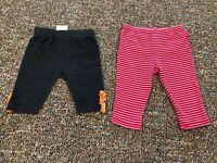 Small Wonders Striped Red Leggings & Jeggings 3-6M
