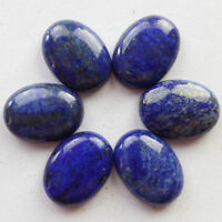 LARGE 16x12mm OVAL CABOCHON-CUT ROYAL-BLUE NATURAL LAPIS LAZULI GEMSTONE £1 NR