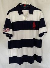 New listing POLO RALPH LAUREN Men's BIG PONY USA FLAG Custom Fit RUGBY POLO SHIRT sz XL