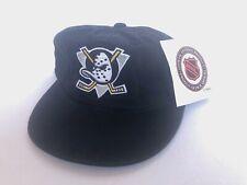 Vintage Deadstock Mighty Ducks Strapback Hat Youth Nhl G Cap Dad Anaheim Disney