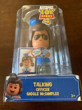DISNEY PIXAR TOY STORY 4 TALKING OFFICER GIGGLE McDIMPLES 20+ SOUNDS 3 FACES