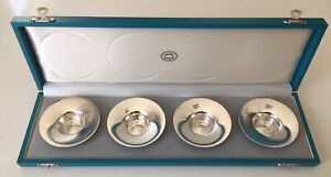Set of 4 Georg Jensen Sterling Silver Candlesticks Designed by Nanna Ditzel
