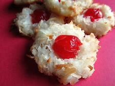 4 Dozen! Homemade Coconut Macaroon's with Cherries + Gift Box, All Day Baking,