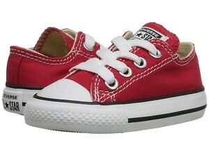 NEW INFANT TODDLER CONVERSE RED OX FREE SHIPPING MEDIUM WIDTH