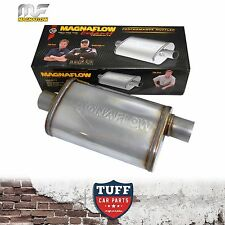 "Magnaflow Stainless Steel 2.5"" Muffler Oval 14"" x 9"" x 4"" 14326 Center Offset"
