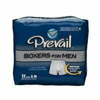 Prevail Boxers for Men Pull On Medium Disposable Heavy Absorb - Case/48