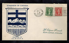 1946 Vancouver BC Canada cover to New Castle IN USA Dominion Alberta