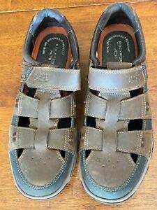 Rockport XCS Men's Brown Leather Sandals Size 9 Moisture Wicking Slip Resistant