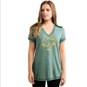 NWT NFL Green Bay Packers V-Neck T-Shirt Size Small