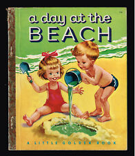 Excellent Condition LGB A Day At The Beach 110 A ed 1951 Little Golden Book