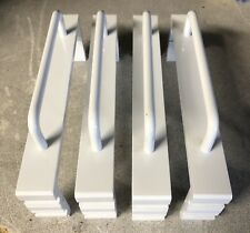 New Pair Old School Carver Klw White Amplifier End Caps Handles,Nos