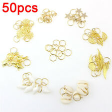 50x/Set Shell Leaves Star Conch Snowflake Pendant Hair Clip Hair-Accessories