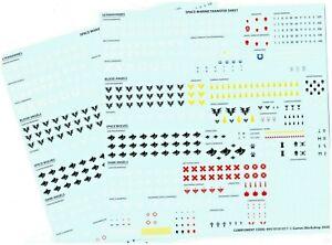 Warhammer 40k Primaris Space Marine Transfer / Decals (X 2 Sheets)