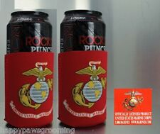 2 - OFFICIAL USMC MARINES EGA US Beer Soda CAN Botttle Wrap Cooler Jacket KOOZIE
