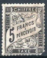 "FRANCE STAMP TIMBRE TAXE N° 24 "" TYPE DUVAL 5F NOIR "" NEUF (x) RARE A VOIR  P010"