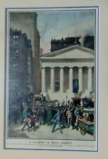 """WILLIAM HURD LAWRENCE(1866- 1938)-""""A FLURRY IN WALL STREET""""- FRAMED PRINT (1901)"""