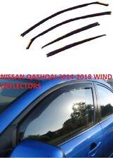 NISSAN QASHQAI 2014 - 2018 WIND DEFLECTORS VISOR BRAND NEW 4PC TINTED LIKE HEKO