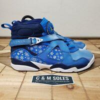 Nike Air Jordan 8 Retro GS Snowflake Size 6.5 Youth Pre-owned