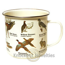 Wild Animals Enamel mug - multi Coffee Drink Warm Gift Cup Beverage Holder Hot