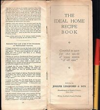 C1900 The IDEAL HOME RECIPE BOOK Joseph Lingford & Son POWDERS Bishop Auckland