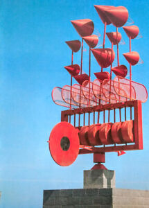 1992 STUNNING CESAR MANRIQUE Gloss ART PRINT RED Wind TOY Mobile LANZAROTE No.14