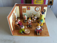 Snow White and 7 Dwarfs Figurines with Display
