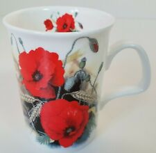Roy Kirkham Poppys Poppies Coffee Mug Fine Bone China Vintage 1991