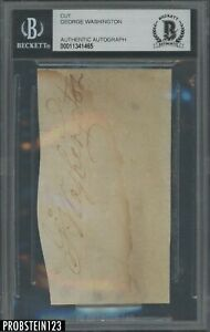 """George Washington Signed Cut AUTO BGS BAS Authentic """" GREAT INVESTMENT """""""