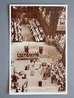 R&L Postcard: Crowning of King George VII Westminster Abbey, Valentine's