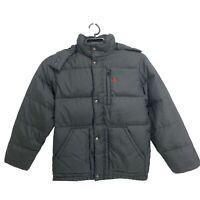Polo Ralph Lauren DOWN Jacket  Zip Puffer Black Coat youth boys junior Sz XL