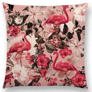 Pink Flamingo cushion cover, Blush Pink, floral, hot pink tropical flamingo