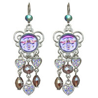 Kirks Folly Seaview Water Moon Lots Of Love Leverback Earrings (Silvertone)