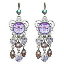 Kirks Folly Seaview Water Moon Lots Of Love Leverback Earrings (Silvertone)