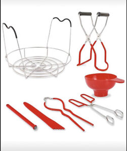 7 Piece Canning Kit Red For Mason Jar Canning New In Box
