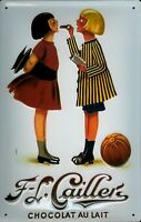 Cailler Chocolat Motiv 1 Blechschild Schild 3D geprägt Metal Tin Sign 20 x 30 cm