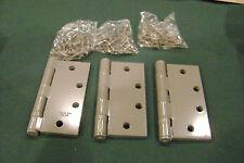 3 Stanley Ball Bearing Primed Steel Hinges 4-1/2 x 4-1/2 FBB179 / 06-8431