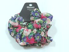 Chiffon Scrunchie 2pc set wildflower spring floral soft ouchless colorful D