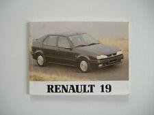 carnet de bord/manuel du conducteur pour RENAULT 19