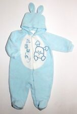 LN MINIWEAR Fleece One Piece Coveralls Suit Bunting Easter Bunny Twins  Sz. 3-6