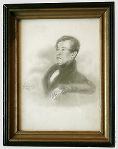 19th CENTURY ORIGINAL WELL EXECUTED PENCIL PORTRAIT OF A GENTLEMAN SIGNED  DATED